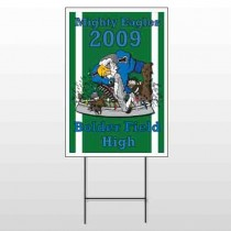 Green 50 Wire Frame Sign