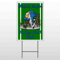 Green 56 Wire Frame Sign