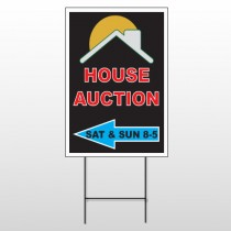 Auction Left Arrow 728 Wire Frame Sign