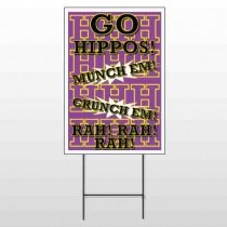 Hippos 45 Wire Frame Sign