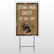 Hunt Turkey 409 Wire Frame Sign