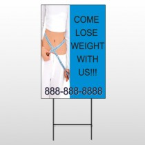 Measure Loss 421 Wire Frame Sign
