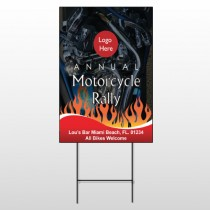 Motorcycle Flame 322 Wire Frame Sign