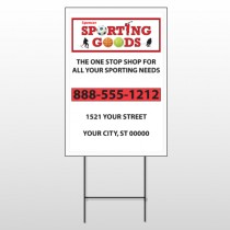 Sporting Goods 528 Wire Frame Sign