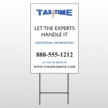 Tax Time 171 Wire Frame Sign