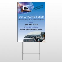 Traffic Cars 151 Wire Frame Sign