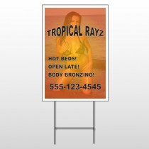 Tropical Rayz Tan 490 Wire Frame Sign