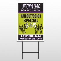 Uptown Salon 642 Wire Frame Sign