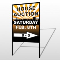 Auction Right Arrow 717 H-Frame Sign