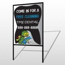 Brushing Germ 502 H Frame Sign
