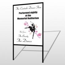Ballet Dance 517 H Frame Sign
