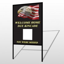 Eagle Flag 307 H Frame Sign