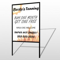 Flaming Suntan 298 H Frame Sign