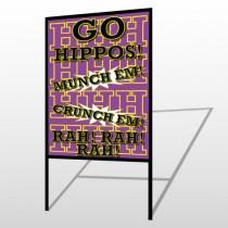 Hippos 45 H Frame Sign