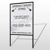 Music 371 H-Frame Sign