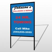Repair 124 H-Frame Sign