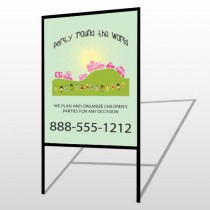 World Party Plan 520 H Frame Sign