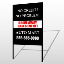 Auto Mart 114 H Frame Sign
