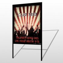 Night Club 523 H Frame Sign