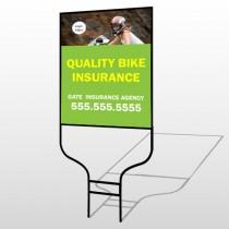Bike Insurance 110 Round Rod Sign
