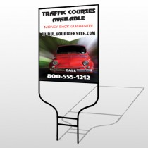 Car Traffic 153 Round Rod Sign