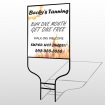 Flaming Suntan 298 Round Rod Sign