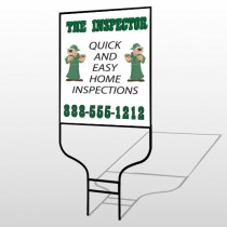 Inspector 361 Round Rod Sign