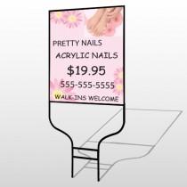 Nail Salon 291 Round Rod Sign