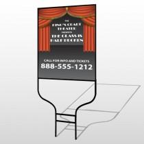 Theatre Curtains 521 Round Rod Sign