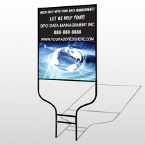 World Wide Web 437 Round Rod Sign