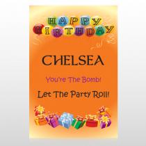 Birthday Balloons 185 Custom SignTemplate
