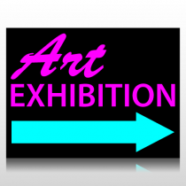 Art Exhibition Sign Panel