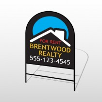 Blue Moon Roof Realty 568 H-Frame Arch Sign