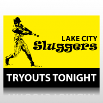 Baseball Tryouts Sign Panel