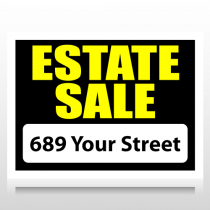 Black & Yellow Estate Sale Sign Panel