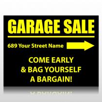 Black & Yellow Garage Sale Sign Panel