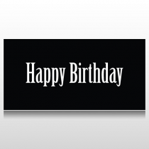 Black And White Birthday Banner