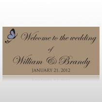 Butterfly Welcome To The Wedding Banner