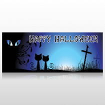 Cat With Eyes Banner