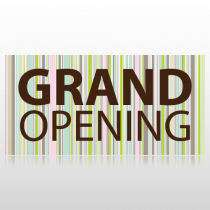 Colored Stripes Grand Opening Banner