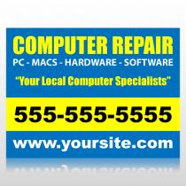 Computer Repair Sign Panel