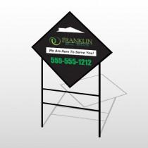 Franklin 35 H-Frame Diamond Sign