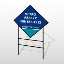 Metro 36 H-Frame Diamond Sign
