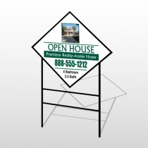 Open House 32 H-Frame Diamond Sign
