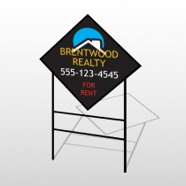 Rent Moon Roof Realty 568 H-Frame Diamond Sign