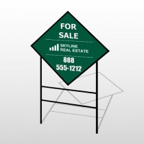 Skyline 26 H-Frame Diamond Sign