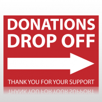 Donations Drop Off Sign Panel