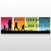 Happy Town 181 Floor Decal