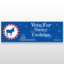 Vote Donkey Democrat 265 Custom Sign