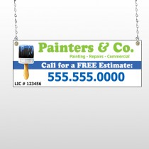 Blue Paint Brush 305 Window Sign